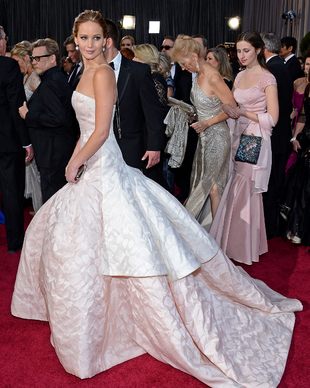 Jennifer Lawrence Dior Gown Oscars