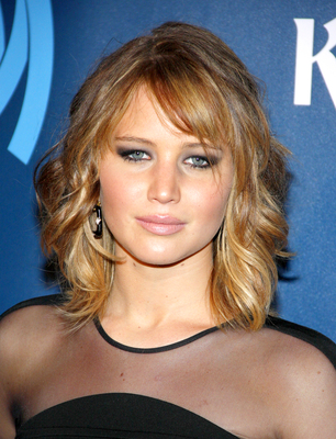 Jennifer Lawrence Shoulder Length Haircut