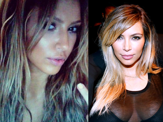 Kim Kardashian Goes Blonde