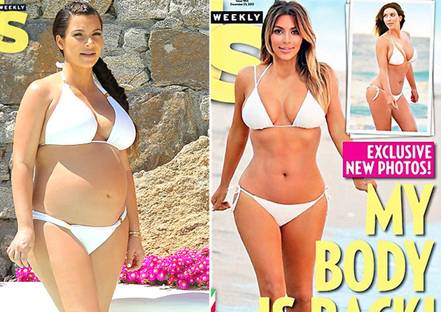 Kim Kardashian Post Baby Body