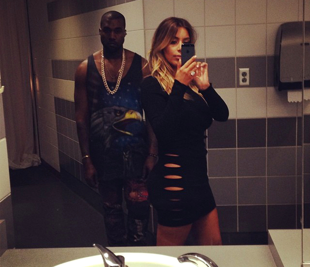 Kimye Bathroom Selfie