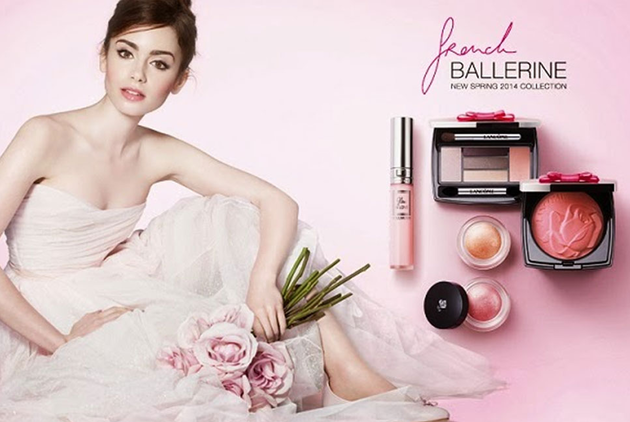 Lily Collins for Lancome French Ballerina Spring 2014 Makeup Collection