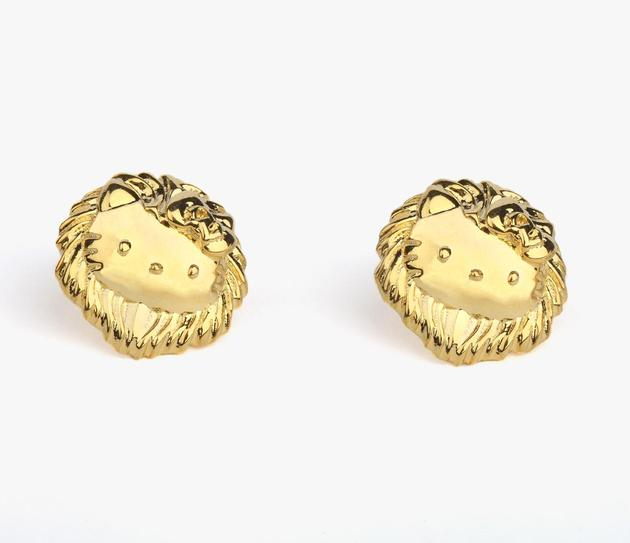 Onch X Hello Kitty Gold Plated Medallion Earrings
