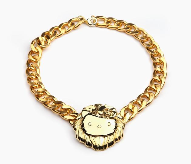 Onch X Hello Kitty Gold Plated Medallion Necklace