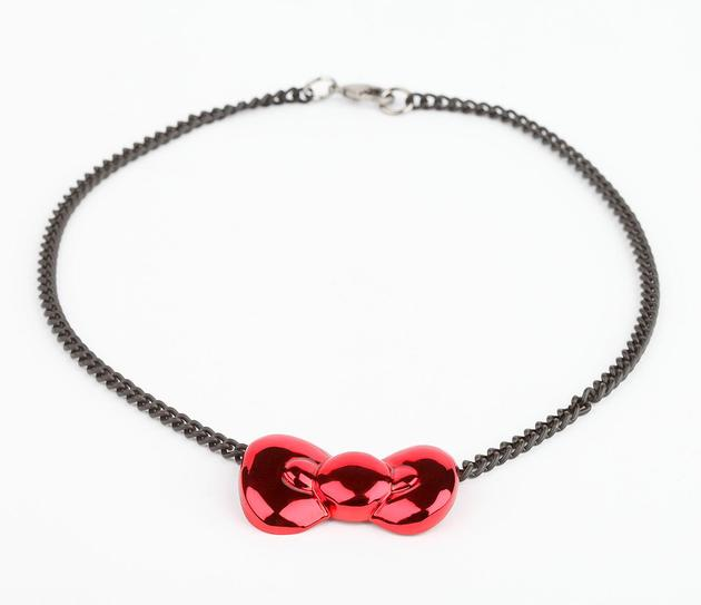 Onch X Hello Kitty Necklace Candy Chrome Bow