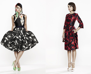Miroslava Duma fronts the new Oscar de la Renta for The Outnet campaign. Check out the second set of options the luxury label brings into the spotlight.