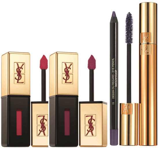 Ysl Rouge Pur Couture Vernis À Lèvres Glossy Stain  Eye Pencil And Mascara For Ss 2014