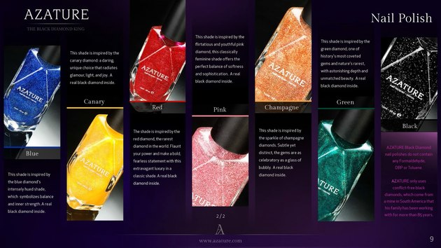 Azature Diamond Nail Polish Collection  (1)