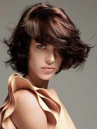 Bob Haircut With Bangs For Wavy Hair