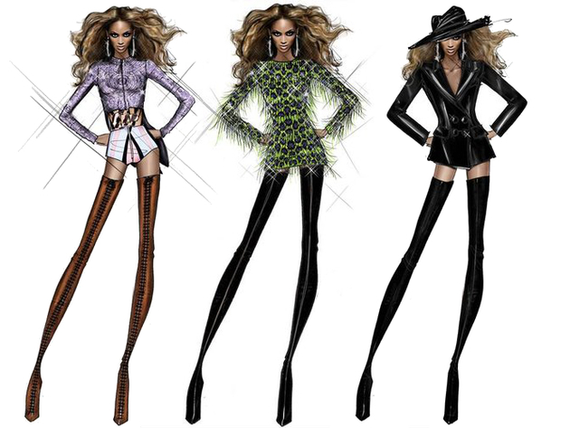 Beyonce's Tour Costume Sketches Revealed