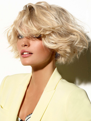 Blonde Bob Haircut With Bangs