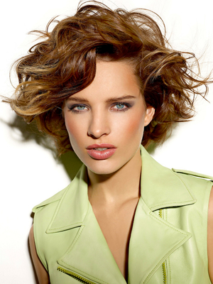 Wavy Bob Haircut With Bangs