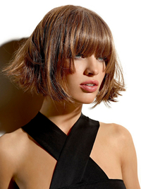 Bob Haircut With Long Bangs