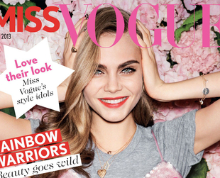 Cara Delevingne Covers Miss Vogue's Inaugural Issue