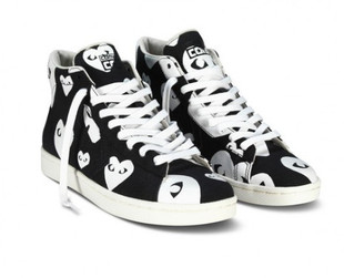 Some iconic Converse sneakers get a cool, romantic makeover in the new Comme des Garcons x Converse collection. Have a look!