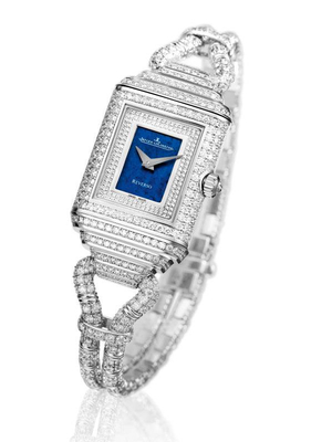 Jaeger Le Coultre Reverso Cordonnet  Duetto Diamond Watch