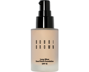 Katie Holmes reveals a flawless complexion in a campaign for Bobbi Brown's Long-Wear Foundation. Check it out!