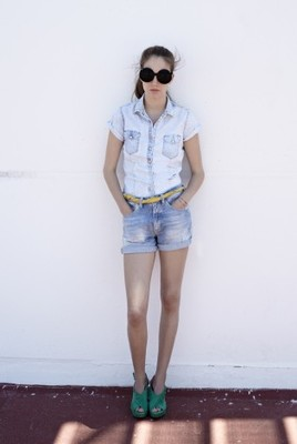 Meltin Pot Denim Shirt And Shorts