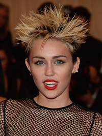 Miley Cyrus 2013 Met Ball Hairstyle