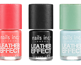 Rock the textured nail polish trend with the fab new nail polishes from Nails Inc from the Leather Effects collection.