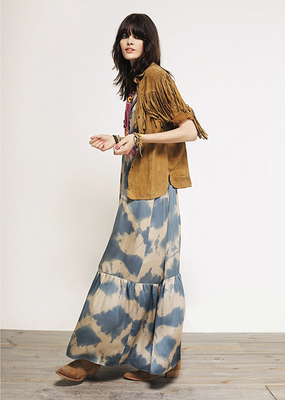 Rapsodia Maxi Dress And Fringe Jacket