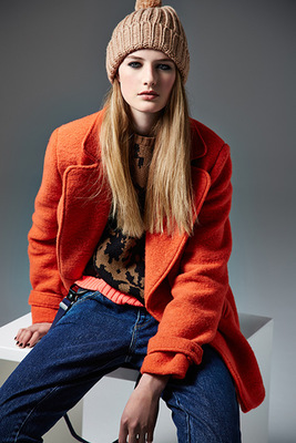 River Island Autunm 2013 Orange Coat
