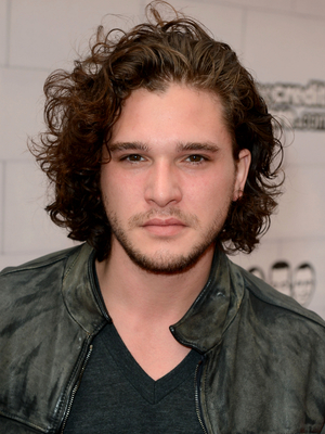 Kit Harington Curly Shag Hairstyle