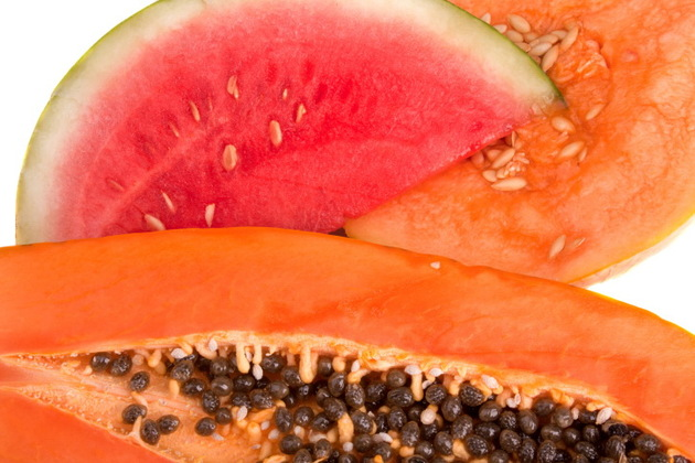 Papaya And Watermelon