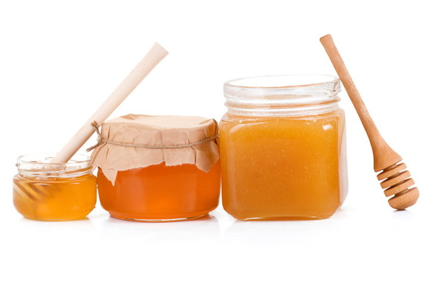 Raw Honey In Jars