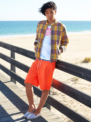 Tommy Hilfiger Mens Orange Trunks Summer 2013