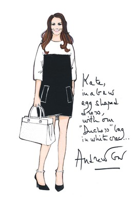 Top Designers Sketch Maternity Dresses For Kate Middleton (5)