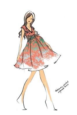Top Designers Sketch Maternity Dresses For Kate Middleton (9)