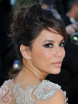 Eva Longoria Teased Updo Side View