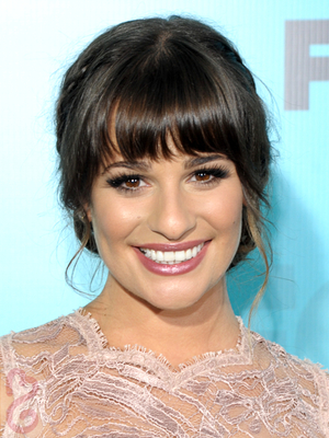 Lea Michele Braided Chignon Updo