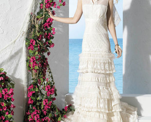 Check out this stylish collection by YolanCris featuring some utterly lovely wedding dresses!