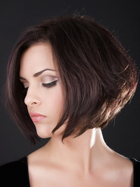Layered Asymmetrical Bob Haircut