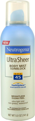 Ultra Sheer Spf 45 Aerosol Sunscreen