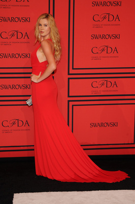 Ireland Baldwin Red Dress 2013 Cfda Awards