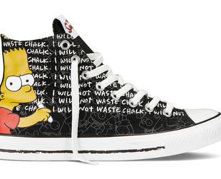 Thanks to a new fab collaboration, you'll be able to find your favorite 'The Simpsons' characters at your nearest Converse store. Check out all the styles from the Converse & The Simpsons collaboration.