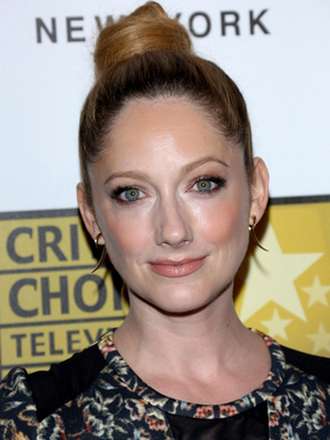 Judy Greer High Bun Updo
