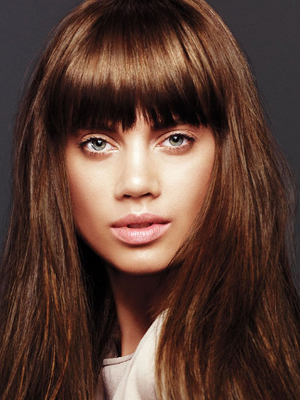 Wispy Layered Bangs With Long Hair