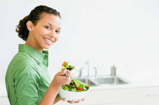 Eating Salad For A Beautiful Complexion