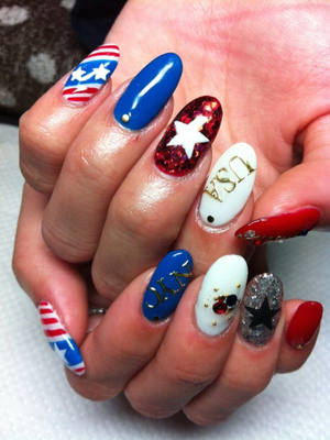 4th Of July Nail Art Design