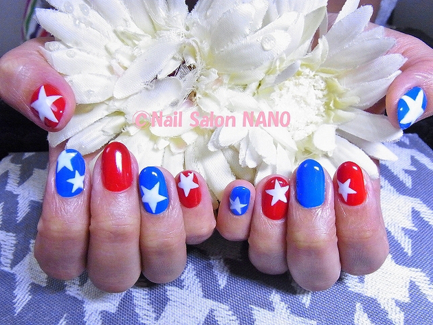 4th Of July Stars Nail Design