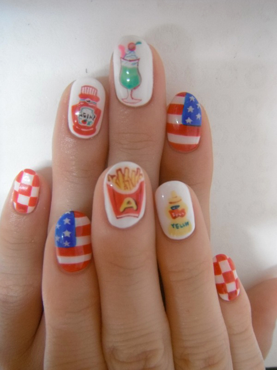 Toe Nail Designs For July 4th: July nail design images fourth ...