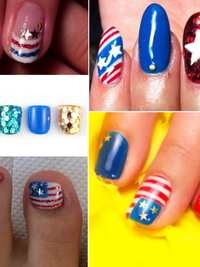 Fourth of July Nail Art and Toe Nail Designs