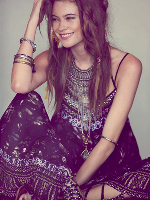 Free People Beaded Maxi Dress