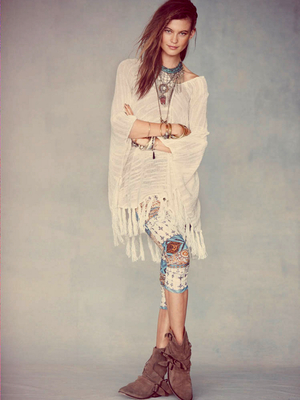 Free People Summer Poncho