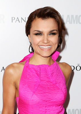 Samantha Barks Updo Hairstyle Glamour Women Of The Year Awards 2013