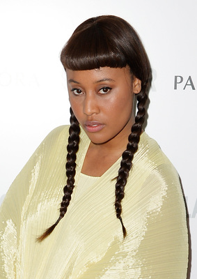 Vv Brown 'Wednesday Addams' Inspired Pigtails Glamour Women Of The Year Awards 2013